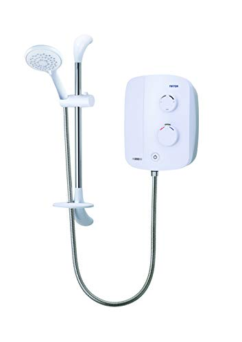 Triton Showers TDPS200SR Silent Running Power Shower, White, 215 mm