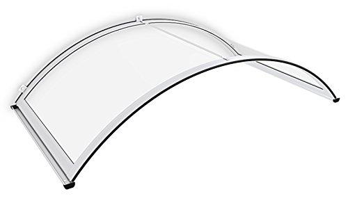 Schulte deurluifel Basic, 160x90, gebogen, wit, helder polycarbonaat, V1205-30-04