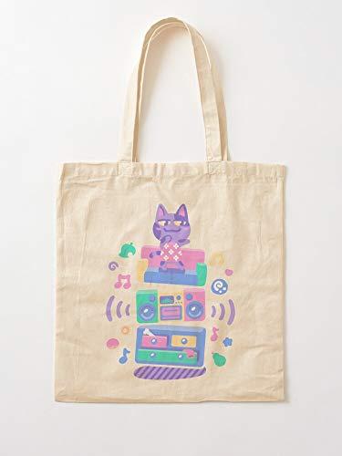 Generic Game Cat Animal Video Cats AC Music Furniture | Einkaufstaschen aus Segeltuch mit Griffen, Einkaufstaschen aus robuster Baumwolle
