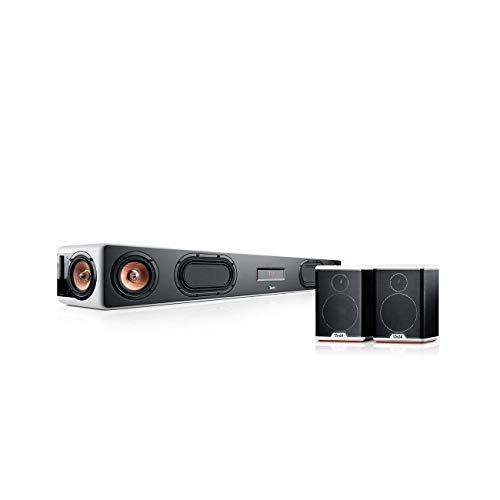 Teufel Cinebar Ultima Surround 4.0-Set Weiß / Schwarz-Weiß Soundbar Bluetooth mit aptX HDMI Surround Kino - Sound Speaker