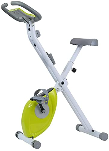 Bicicleta estática de rehabilitación Mini Equipo de Gimnasia Entrenador motorizado de Entrenamiento de extremidades Superiores e Inferiores con Resistencia para Brazos y piernas-Verde
