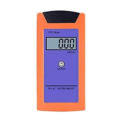 Digital Reptile UVC Precision Meter Ultraviolet Irradiance Tester Portable UV Intensity Detector with LCD Display