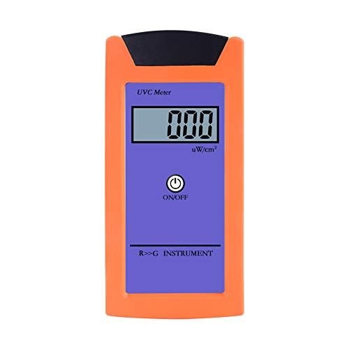 RCYAGO RGM-UVC Reptile UV Radiation Meter 1uw/cm2 High Precision UV Illuminance Meter UVC Luminosity Measurement Tool with LCD Digital Display
