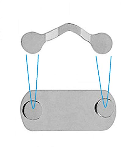 Arztkittel Krankenschwester Kittel Magnet Clip als magnetischer Brillenhalter - 3x Magnetclips Brillenhalterung zur Befestigung auf der Kleidung