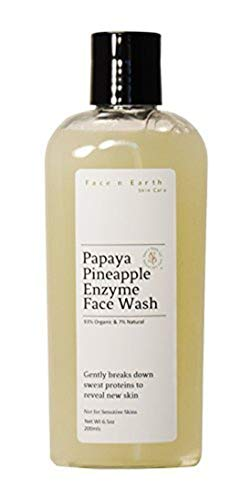 Papaya, Pineapple Enzyme & Niacinamide B3 Cleanser 93% Organic - Vegan pH Balanced