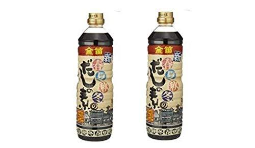 [笛木醤油] だしの素 金笛 新春夏秋冬のだしの素 1L×2 /本醸造醤油使用