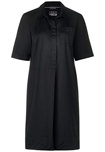 Street One Damen Kleid im Hemd-Style Black 42