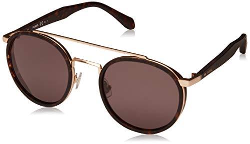 Fossil Sonnenbrille FOS2082/S Damen Rund Sonnenbrille 50, Braun