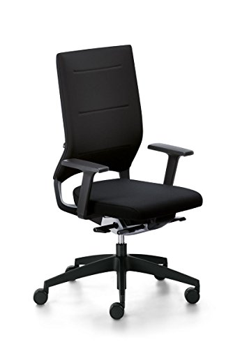 Sedus Drehstuhl Quarterback mit Armlehnen Bürostuhl Bürosessel Arbeitsstuhl Schwarz
