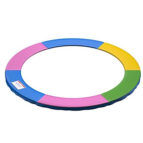 Ronvir Copri Bordo Cuscino per Trampolino, Protezione per Bordo di Tappeto Elastico, Resistente allo Strappo, Multicolore, 305cm