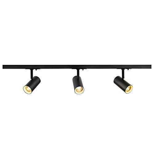 SLV 1 Phasen System Leuchte 1Ph NOBLO SPOT SET / Strahler, LED-Spot, Decken-Strahler, Decken-Leuchte, Schienensystem, Innen-Beleuchtung / 2700K 22.5W 1860lm schwarz