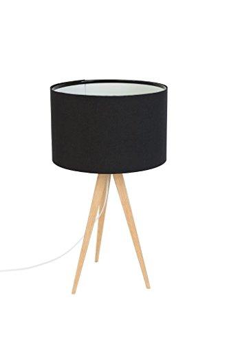 Lampe à poser Tripod Wood Mini Couleur Noir