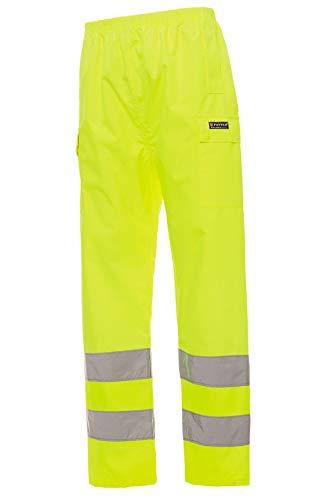 Mivaro Herren Warnschutz Regenhose Regenarbeitshose EN ISO 20471, Größe:XL, Farbe:Neongelb