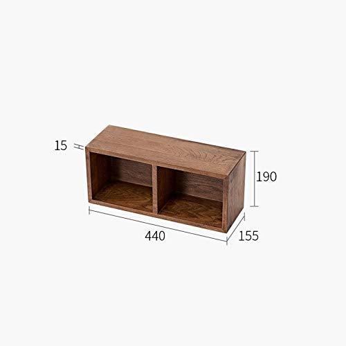 Zwevende Planken, Houten Decoratieve, Zwevende Plank Tv-Componenten, Garage/Schuur/Magazijn/Vrijstaande Opslagplanken,Massief Houten Opbergrek-440 * 190 * 155 Mm