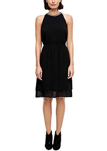 s.Oliver Damen 14.911.82.5602 Kleid, Schwarz, (Herstellergröße: 36)