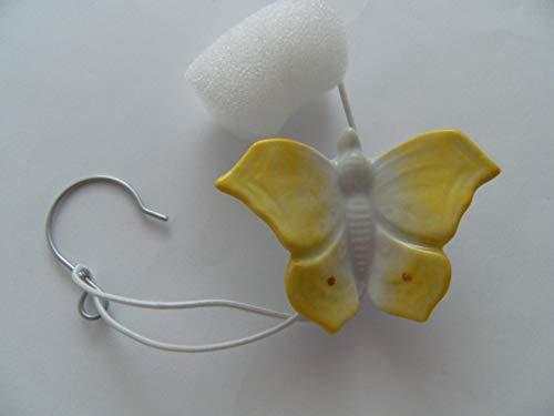 Lindner Porzellan Tropfenfänger Schmetterling, handbemalt, für Kaffee- oder Teekannen, Tier Falter