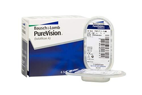 BAUSCH + LOMB - PureVision® - Lentes de contacto de reemplazo mensual - Pack de 6