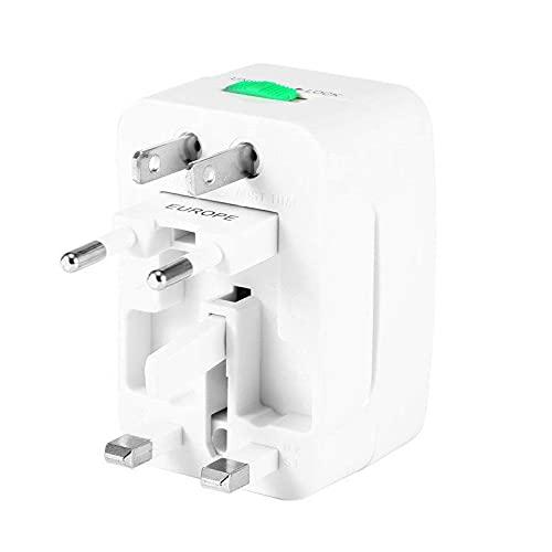 CLKJ Enchufe eléctrico Adaptador de Toma de Corriente Viajes internacionales Cargador Universal Convertidor UE Reino Unido EE. UU. AU Opción USB