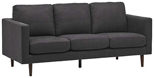 Amazon Brand – Rivet Revolve Modern Upholstered Sofa Couch, 80'W, Storm Grey