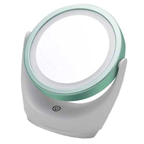 LIOOBO 360化粧鏡とライト、Espejo詐欺ルスパラmaquillajeスイベルドレッシングテーブルミラーledミラーデスクトップミラー女性のための