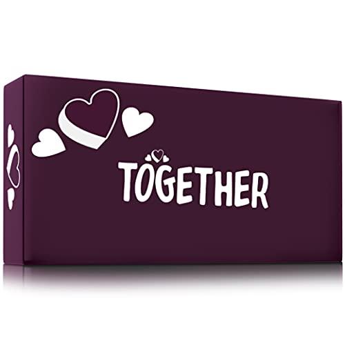 ZENAGAME Together - Gioco di Coppia - 150 Carte per Migliorare la Comunicazione - Gioco di società, Gioco da Tavola, Gioco in Scatola- Regalo Coppia Perfetto