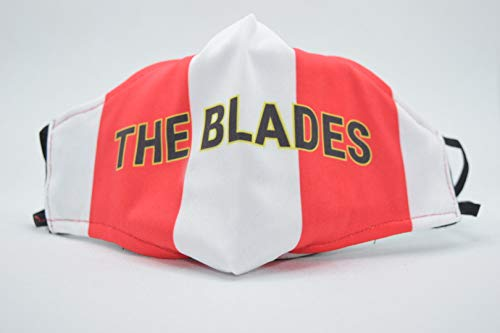 Sheffield Reds Face Covering with built in filter, washable - The Blades
