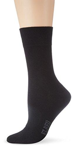 ELBEO Damen Sensitive W Pure Cotton Socken, Schwarz (schwarz 9500), 39-42 (II)