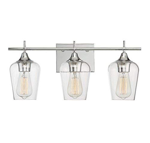 Savoy House 8-4030-3-11 Octave 3-Light Bathroom Vanity Light in a Polished Chrome Finish with Clear Glass (21