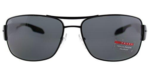 Prada Sport Sunglasses - PS53NS / Frame: Demi Shiny Black Lens: Gray Polarized