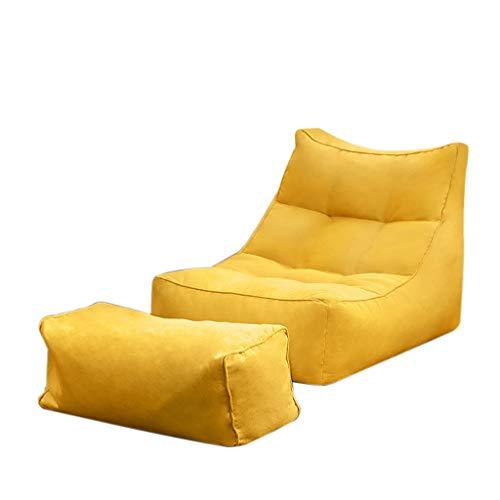 Bean Bag Chaise Sac De Haricots Canapé Grande Fauteuil Salon Sige Confortable Durable avec Repose-Pied pour Enfants Et Adultes 65 * 66 * 95cm