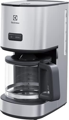 Electrolux E4CM1-4ST - Cafetera Americano programable, 1080 W, 1,65 litros, inoxidable, gris y acero