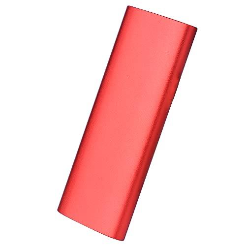 Disco duro externo de 1 TB, 2 TB, 3,4 TB, disco duro portátil Slim External Hard Drive USB 2.0 Compatible con PC, portátil y Mac (1TB-A Red)