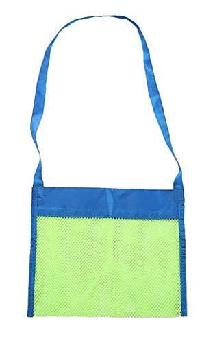 KIRALOVE - Bolsa de playa porta juguetes para niños Red porta objetos cómoda anti arena práctica ideal para la playa piscina barco verde y azul