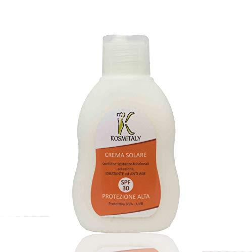 La meilleure Protection solaire SPF 30 – 100 ml – Formule sans paraben. Sans silicones. Hydratant Anti Age avec filtre UVA UVB produit hypoallergénique Lait mer esthétique pharmacie