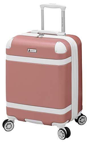 LONDON FOG Vintage Hardside Expandable Spinner Luggage, Rose Gold, Carry-On 20-Inch