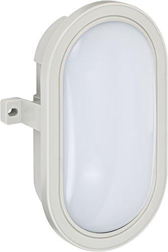 Brennenstuhl LED Ovalleuchte / Kellerleuchte für außen und innen (IP44, 800 Lumen, Schutzklasse II, ideal für Decken- und Wandmontage)