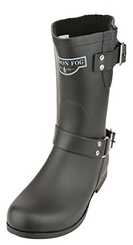 LONDON FOG Women's Janet Rain Boots (38, Black)