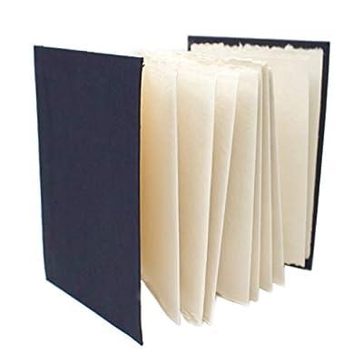 Artway 2303258 Indigo Handmade Sketchbook - 100% Cotton Rag Paper - Concertina A5 Portrait, White