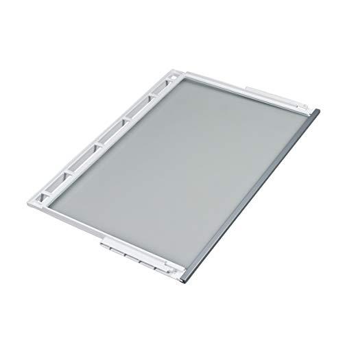 Bosch Siemens 748397 00748397 ORIGINAL Glasplatte Glastrageabdeckung Glasboden Absteller Innenraumablage 471x306mm Rahmen Kühlschrank Kühlautomat auch Neff Balay Constructa