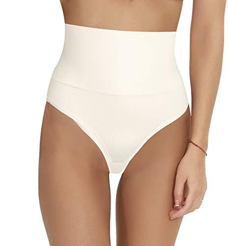 BODY WRAP - Tanga esculpante, reductor, invisible, sin costuras, para mujer – Color a la moda crema 44