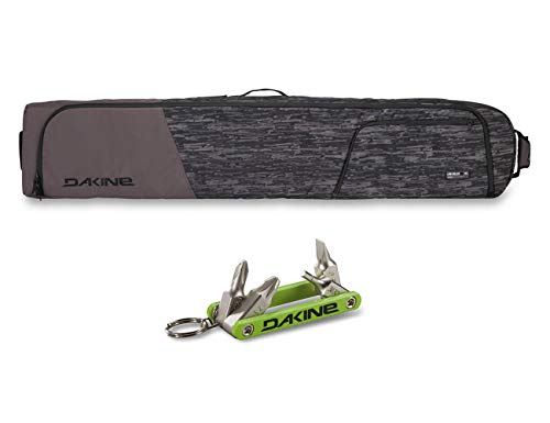 PlayBetter Dakine Low Roller Snowboard Bag (Shadow Dash - 175cm) & Dakine Fidget Tool Bundle   360° Padded Board Protection, Holds 2 Boards