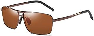 TT WARE Men Women Square UV400 Polarized Sunglasses for Driving Photochromic Glasses Eyewear-Brown