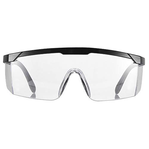 Powstro Gafas de Seguridad, Protección para los Ojos con Marco Ajustable, Ojos a Prueba de Viento, Previene Gafas empapadas, Gafas Protectoras Transparentes de Trabajo