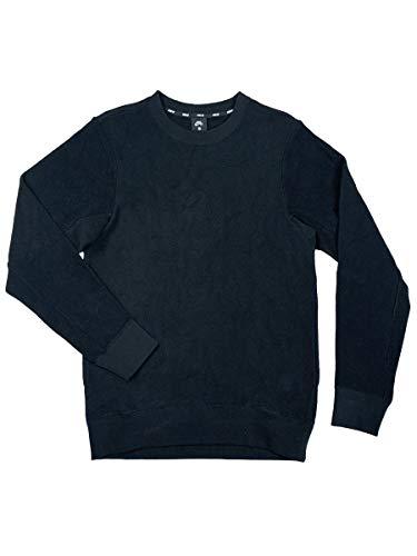 Nike SB Mens Everett Loopers Crewneck Long Sleeve Sweat Shirt Black/Cream (Small, Black)