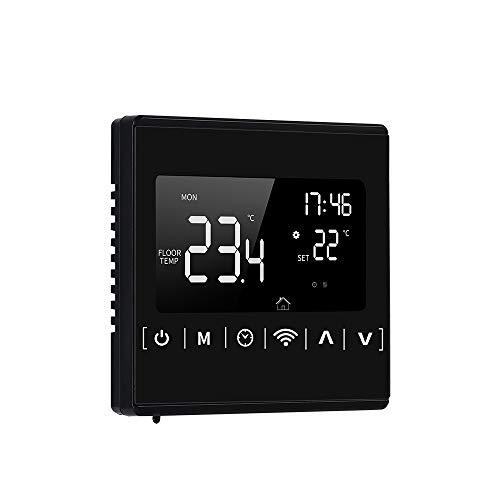 Termostato inteligente con Wi-Fi de 85-250 V Termostato programable semanal Control de APP Retroiluminación LCD Controlador de temperatura de calentamiento de agua Protección contra sobrecalent