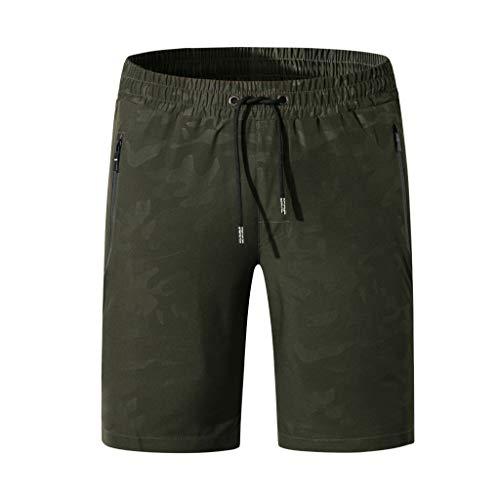 Xmiral Shorts Badehose für Herren Trocknen schnell am Strand Surfen Laufen Schwimmen(4XL,Armee Grün)