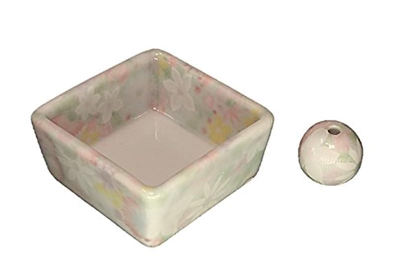 防腐剤口実読者和モダン 華苑 お香立て 陶器 角鉢 製造直売品