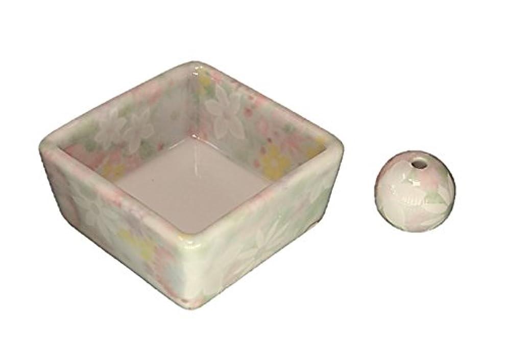 モスクカウント技術者和モダン 華苑 お香立て 陶器 角鉢 製造直売品