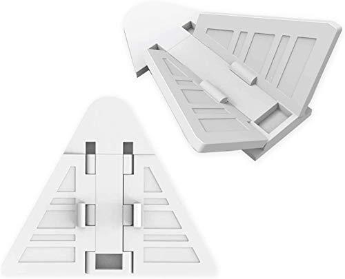 Naomo Skjutdörr lås 8-pack för baby beskyddning|nyckellösa barnsäkerhetslås för uteplats, garderob, dusch skjutdörrar, luckor och mer |Inga verktyg installera (8-pack vit)