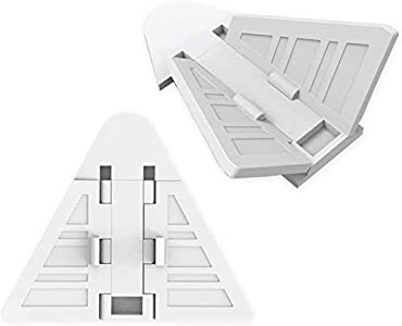 Naomo Cerraduras de Puerta Corredera para Bebé,Cerraduras de Seguridad con Adhesivo Fuerte 3M,Fácil de Operar 8 Piezas (Blanco)